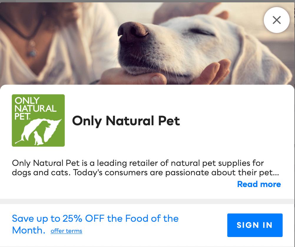 Only Natural Pet Savvy Perks