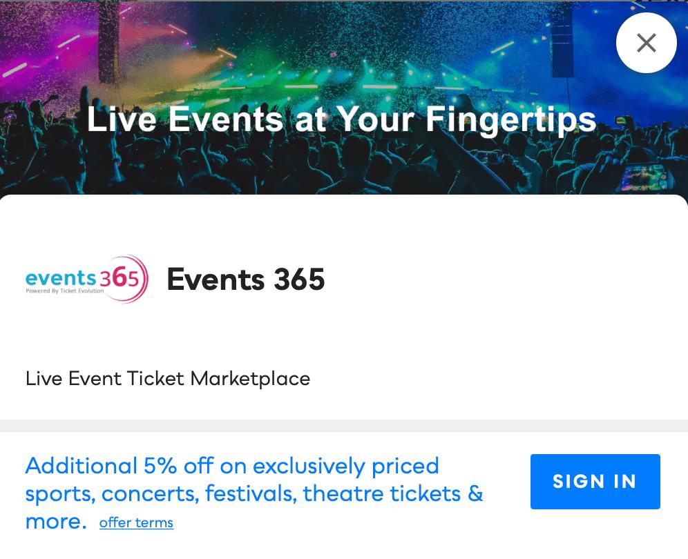 Events 365 Savvy Perks