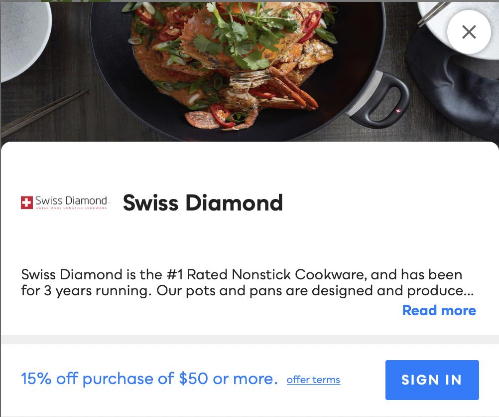 Swiss Diamond Savvy Perks