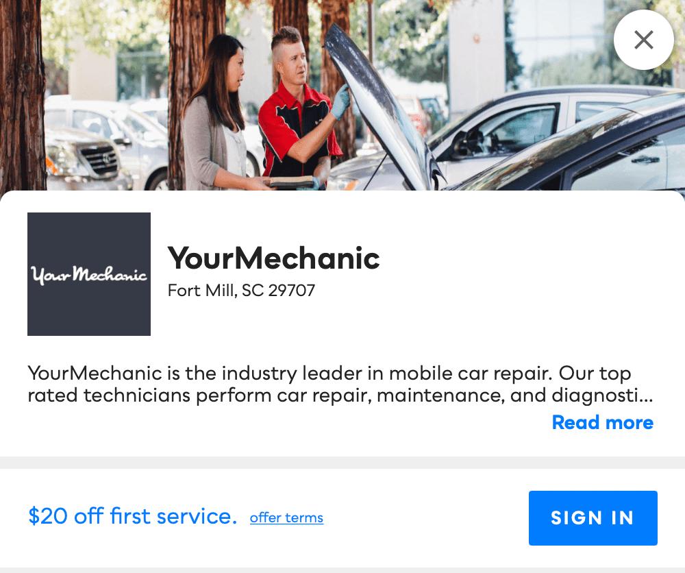 Your Mechanic Savvy Perks