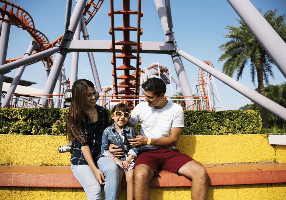 Carowinds Family Under Roller Coaster