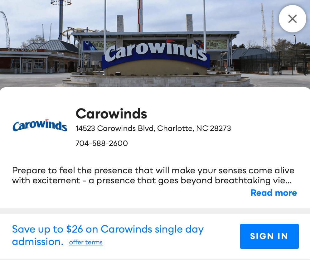 Carowinds Savvy Perks