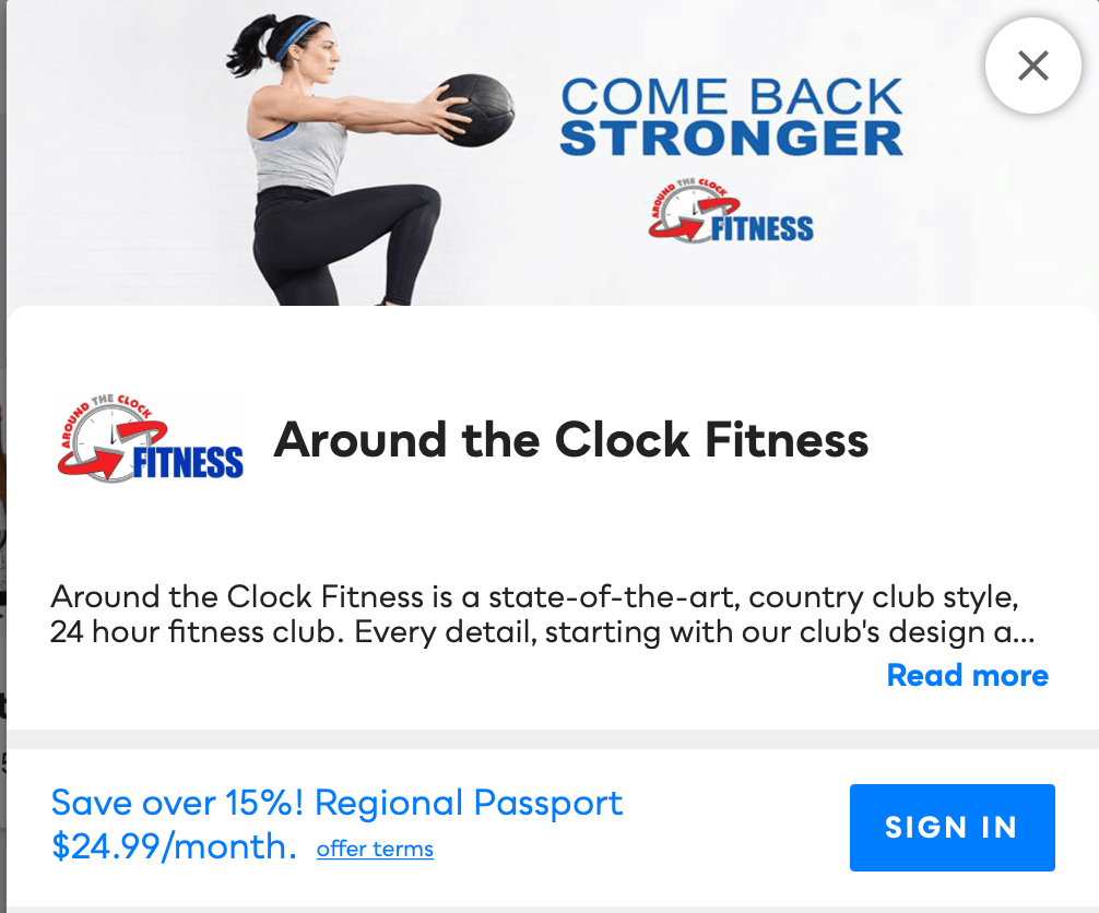 Around the Clock Fitness Savvy Perks