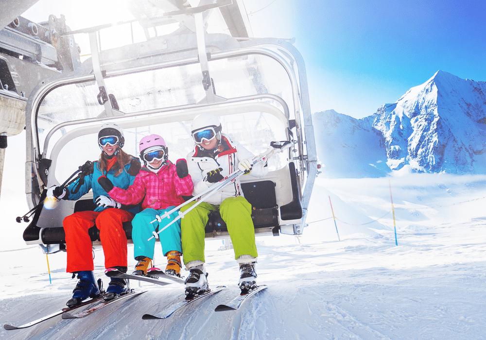 Teton Wasatch Ski Co. Family on Ski Lift